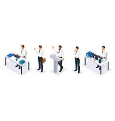 Qualitative isometry 3d businessmen vector