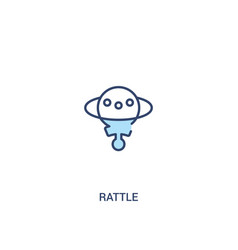 rattle concept 2 colored icon simple line element vector image