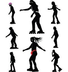 rollerskating vector image