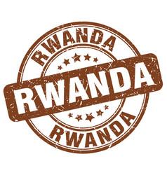 Rwanda brown grunge round vintage rubber stamp vector