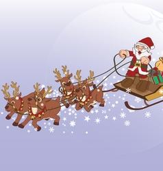 Santa Claus Xmas gift vector image
