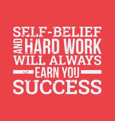 Self-belief and hard work design element vector