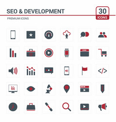Seo and developement icons vector