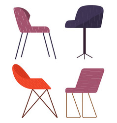set chairs different colors and vector image