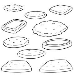 set cookies and biscuits vector image