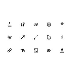 Set of 15 editable building icons includes vector