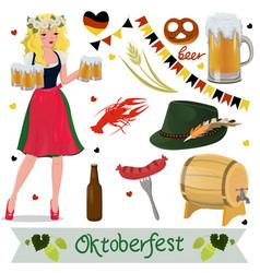 set oktoberfest design elements vector image