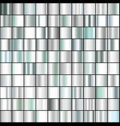 set realistic silver gradients vector image