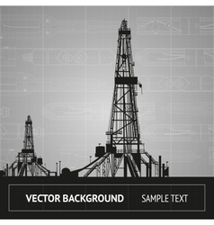 Sketch of oil rig vector image