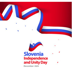 Slovenia independence and unity day template vector