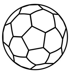 soccer ball outline vector image