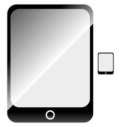 Tablet with blank screen flat symbol included vector