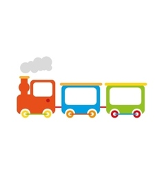 Train toy isolated icon design vector