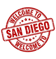 welcome to San Diego vector image