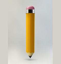 Yellow pencil icon vector