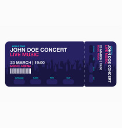 concert ticket template concert party or festival vector image
