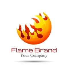 Fire Flame Logo design template Burn vector image