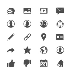 Social network flat icons vector image