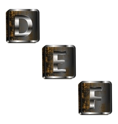 def iron letters vector image