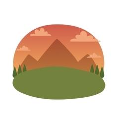 Outdoor landscape vector image