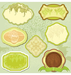 Set for wine labels or menu design vector image vector image