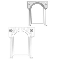 archway with columns vector image