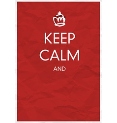 keep calm and vector image