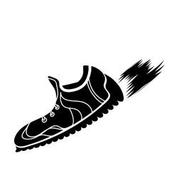 Silhouette of Ranning Shoes vector image