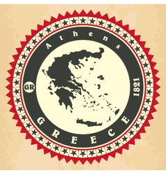 Vintage label-sticker cards of Greece vector image