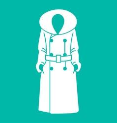 Women coat icon on background vector image vector image