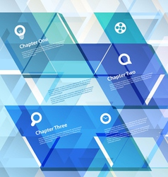 Abstract geometric design template vector image vector image