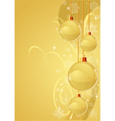 gold Christmas background vector image vector image