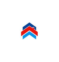 Roof house shape company logo vector