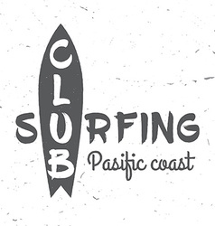 Set of Surf club concept vector image vector image