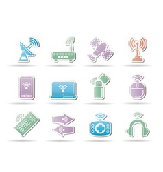 wireless communication vector image vector image