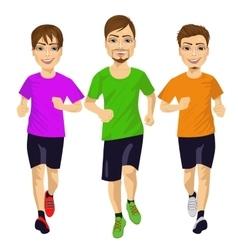 young runner men running outdoors vector image