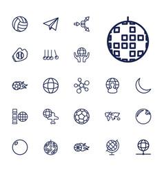 22 sphere icons vector