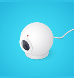 3d web cam on blue background isometric vector
