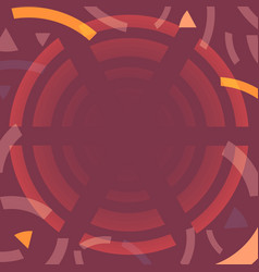 Abstract coffee colors background with round frame vector