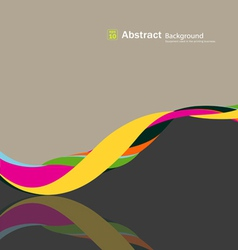 Abstract fabric rolls multicolored spiral vector