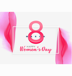 abstract pink watercolor womens day background vector image