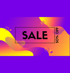 abstract sale banner colorful liquid fluid vector image