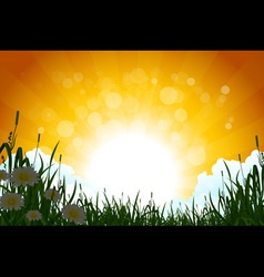 Amazing Sunrise Landscape vector image