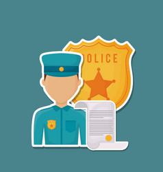 avatar police man icon vector image