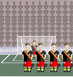 Belgium Soccer Club Penalty on a Stadium vector image