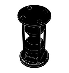 black hourglass on white vector image