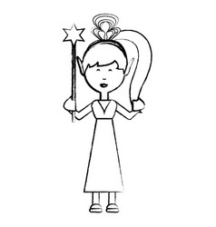 cartoon fairy girl icon vector image