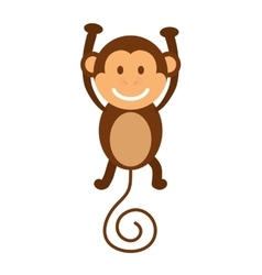 Cartoon monkey icon Cute animal design vector image
