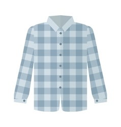 Checkered Grey Shirt Flat Style vector