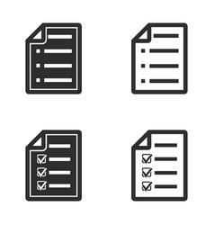 Checklist icon set vector